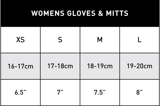 WOMENS GLOVES & MITTS